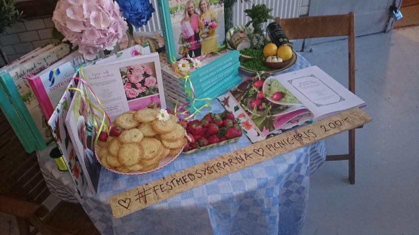 Systrarna von Sydow bjöd på lime- och basilikacookies som smakade fantastiskt! (Foto: Charles Thulin)