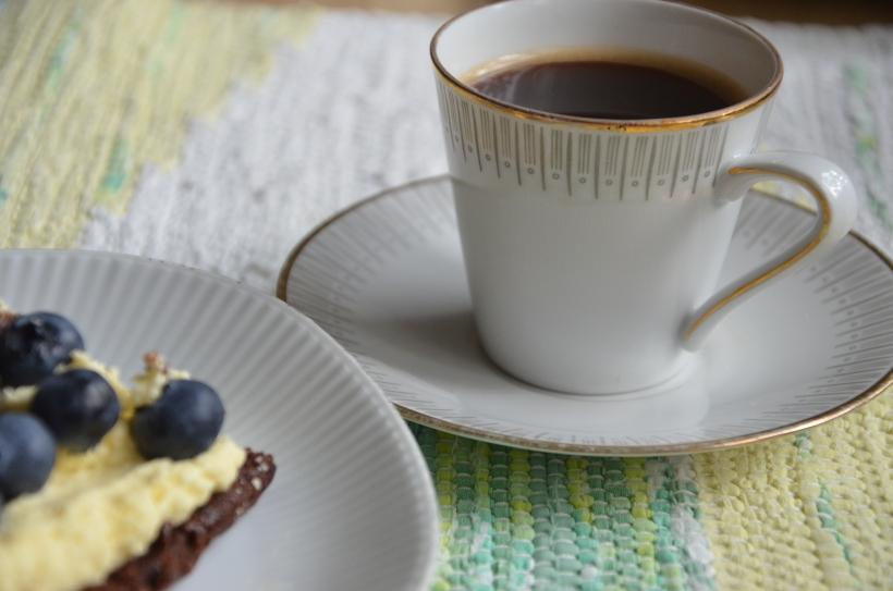 Punschtårtan passar perfekt till hett, nykokt kaffe...