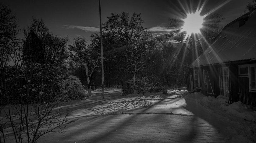 Så här vackert är Under linden när snön ligger vit... (foto: Lasse Wied)