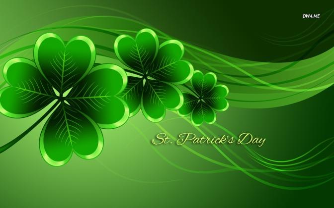 We're all Irish today. Happy Saint Patrick's Day!