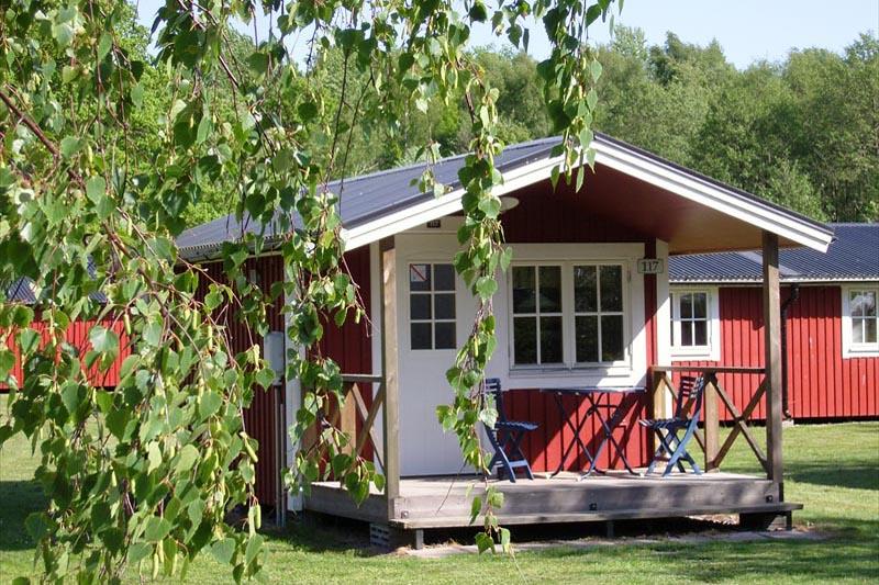 En av stugorna i Saxnäs - sååå mysig! (Foto: Saxnäs)